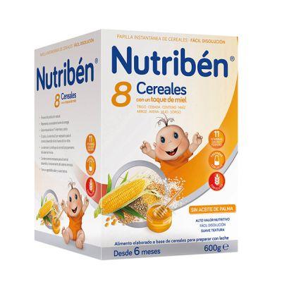 Nutribén Papilla 8 Cereales Miel 600gr