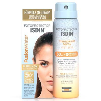 Isdin Fusion Water SPF50+ 50ml + REGALO Transparent Spray Wet Skin 100ml