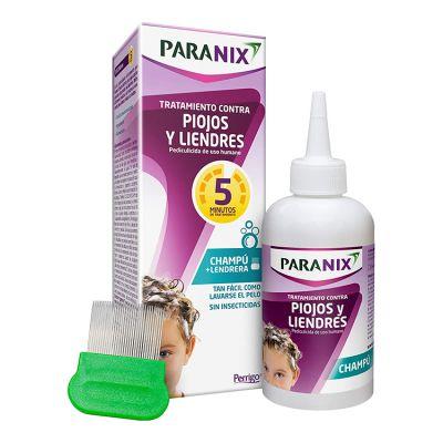 Paranix Nature Tratamiento Piojos y Linendres Champú + Lendrera