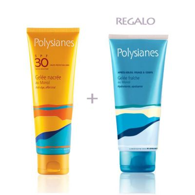 Polysianes Pack Neceser Gel Nacarado SPF30 125ml + Gel Fresco Calmante 200ml
