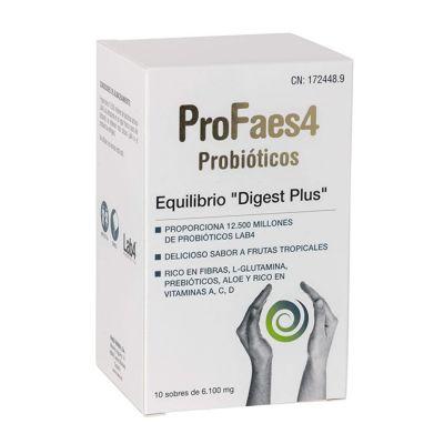 ProFaes4 Probióticos Equilibrio Digest Plus 10 Sobres Sabor Piña