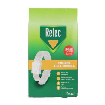 Relec Pulsera Antimosquitos con Citronela Color Blanco