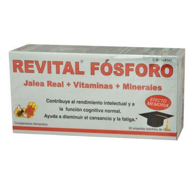 Revital Fosforo Jalea Real Vitaminas y Minerales 20 Ampollas