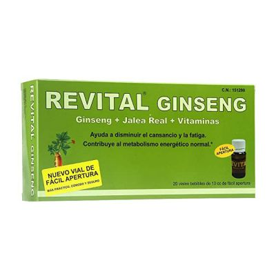 Revital Ginseng con Vitamina C 20 Ampollas