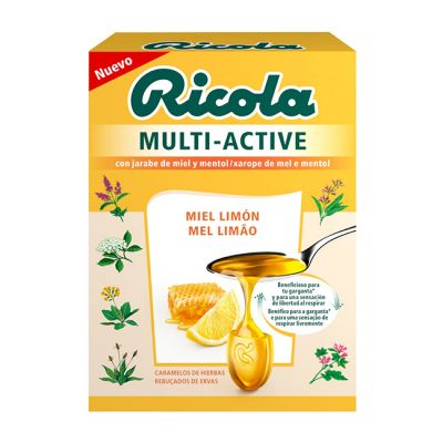 Riola Multi Active Miel Limón Caramelos 51g