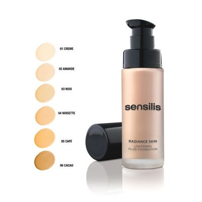 Sensilis Radiance Skin Lightening Fluid Foundation SPF15 Creme 01 30ml