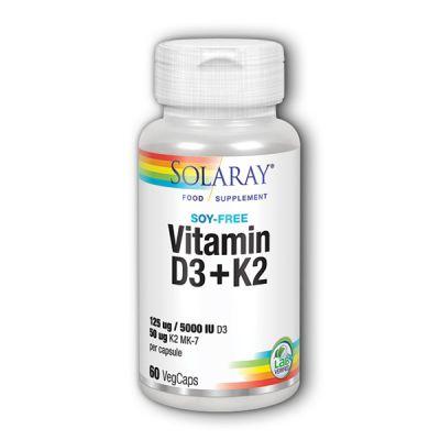 Solaray D3 + K2  60caps