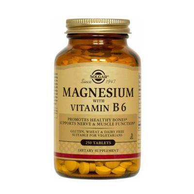 Solgar Magnesio con Vitamina B6 250 comp