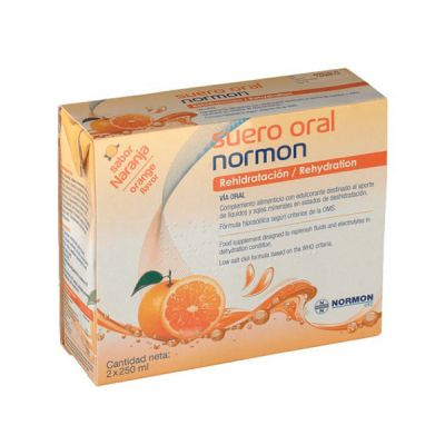 Normon Suero Oral Sabor Naranja 2 x 500ml Bricks