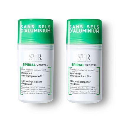 SVR Spirial Duo Roll On Vegetal Antitranspirante 2x50ml