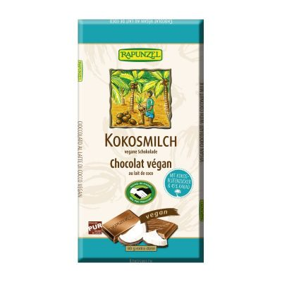 Rapunzel Tableta de Chocolate de Leche de Coco 80g