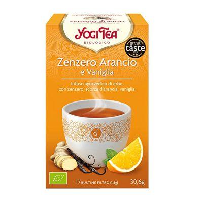 Yogi Tea Biologico Jengibre, Naranja y Vainilla 17 Bolsitas