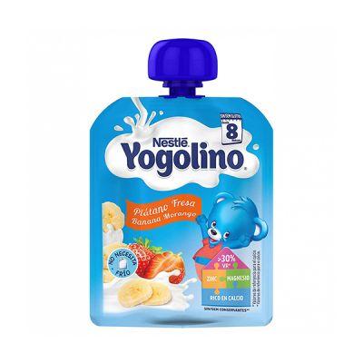 Nestle Yogolino Bolsita Plátano y Fresa 90g